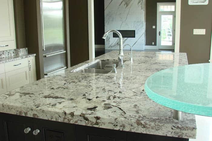 island kitchen design countertops